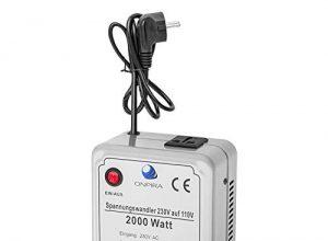220V auf 110V Spannungswandler Transformator Wandler Umwandler Converter 230V AC 2000W