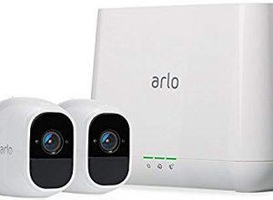 Arlo Pro 2 Smart Home 2 HD-Überwachungskameras & Sicherheitssystem Funktioniert mit Alexa, 130 Grad Blickwinkel, kabellos, WLAN, Indoor/Outdoor, Nachtsicht, wetterfest, 2-Wege Audio weiß, VMS4230P