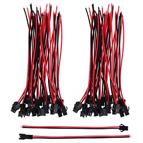 22 AWG JST SM 2 Pin Stecker Männlichen und Weiblichen Steckverbinder Adapter mit 135 mm Elektrisch Kabel für LED Licht, 20 Paare