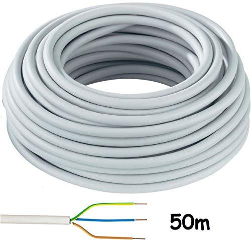 Mantelleitung NYM-J 3×1,5mm² Kabel | 50m Ring, 3 adriges Installationskabel