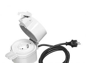 OSRAM Smart+ Outdoor Plug, ZigBee schaltbare Steckdose, für die Lichtsteuerung in Ihrem Smart Home, Direkt kompatibel mit Echo Plus und Echo Show 2. Gen., Kompatibel mit Philips Hue Bridge