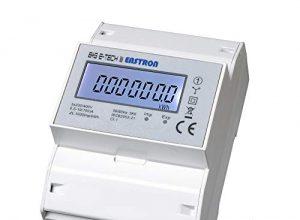 digitaler Drehstromzähler/Stromzähler für Hutschienenmontage, direktmessend 10100 A mit S0 / geeicht/MID zugelassen – SDM72D-MID