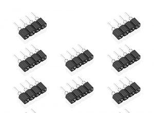 SIENOC 10 Stücke 4 Pin Pol Stecker Kupplung Buchse Weiblich Verbinder für 5050 LED RGB Strip 4 polig