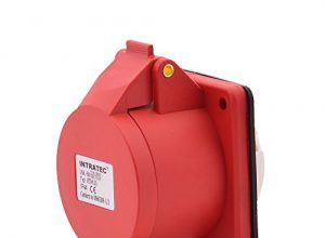 CEE-Kraftstrom-Einbausteckdose Drehstromsteckdose Gerade 16A 400V 6h IP44 5-polig 3P+N+E: IEC-60309 Industrie- und Mehrphasenstecker