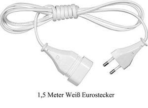 Weiß, Eurostecker – Verlängerungskabel 1,5m 3m 5m 10m Eurostecker Kabel Verlängerung Stromkabel IP20 1,5 m