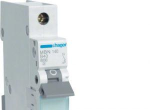 Hager MBN140 LS-Schalter 1P 6kA B-40A 1M Schraubtechnik