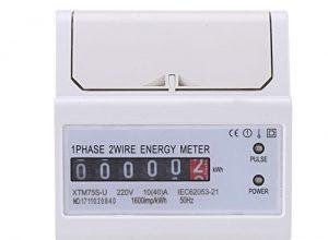XTM75S-U Energiezähler Digital LCD Einphasige 2 Draht KWh Meter DIN-Schiene Stromzähler 10 40 A