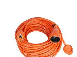 Verlängerungskabel Verlängerung Strom-Kabel Mit Schuko IP44 Garten 15,0 Meter, Orange