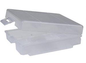 Batterie Box & Akku Box zur Aufbewahrung – ANSMANN Batteriebox für AAA Micro & AA Mignon Akkus & Batterien – Praktische Akkubox zum Schutz & Transport für 4 Accus