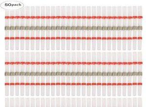 Elektrische lötverbinder – Eagles 50 stück wärmeschrumpfender stoßverbinder, Rot lötverbinder mit schrumpfschlauch für marine automobil