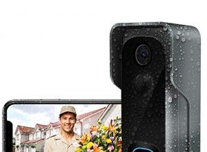 Türklingel mit Kamera,AWOW 1080P HD Video Türklingel WiIFi kamera mit Video Türsprechanlage,IP65 Wasserdicht, 30 Sekunden Sprachnachricht, PIR Bewegungsüberwachung,WLAN 2.4G Smart APP Fernbedienung