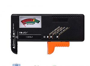 Likey Batterietester, Akku- Tester Batteriemessgerät für AAA, AA, C, D, 1.5V, 9V und alle gängigen