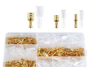ADSSM 150 stück Flachsteckhülsen, Flachstecker, Kabelschuhe, weiblich Kabelstecker set, isolierte Verbinder mit Schutzhülle 2,8 mm 4,8 mm 6,3 mm