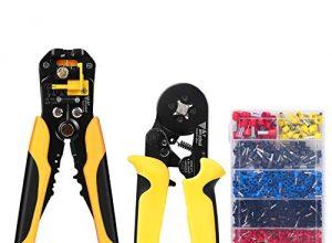 AmzdealCrimpzangenSetmitDrahtschneider und 1200 Stück Kabelschuhe Tool Kit,Presszange umKabelzuschneidenundpressen