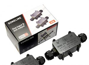 Wasserdichte Anschlussdose IP68 Außenkabelanschluss mit 2 Kabeln SOMELINE für 4-9 mm Durchmesser Kabel 2 Stück