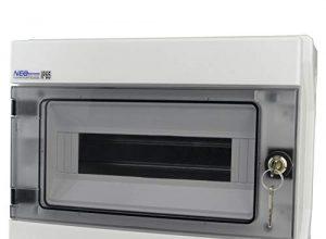 Feuchtraumverteiler Verteilerkasten Schloß RH 12/Z AP IP65 12Module 36.13 E-P 4057