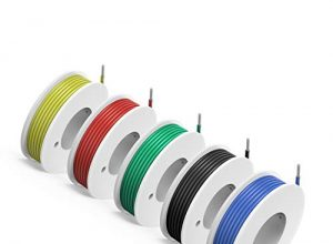+200°C 5 x 9meter – NorthPada 24 AWG 0,20mm² Elektronik Elektrischer Draht Kit Litzen Silikon Leitungen Draht Verzinntes Kupfer Kabel 5 Farbe 300V 2A -60°C