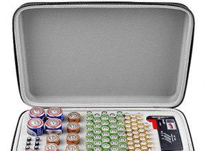 Batterie Aufbewahrungsbox mit Batterietester BT168, Tasche für 140 Batterien AA AAA AAAA 9 V C D Lithium 3 V ohne Batterien