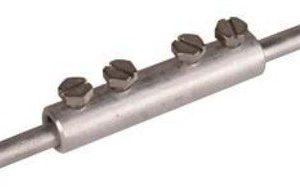 DEHN Verbindungsmuffe 385213 Al f. Rd 8mm m. 4 Schrauben M6x8m
