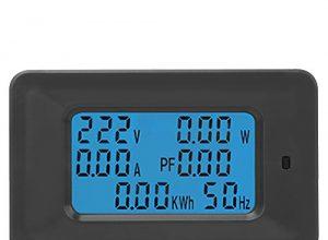 LCD Display Digital Voltage Multimeter 6 in 1 Wechselstrom 110V-250V 20A Strom-Energiezähler Amperemeter Voltmeter mit Hintergrundbeleuchtung