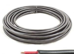 Rundes Doppelkern-Kabel, 12V, 24V, dünnes Wandkabel 14A, 0,75 mm², 10m