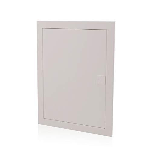 Unterputz Sicherungskasten 2-reihig 24 Module UP-Verteilerkasten IP40 Verteiler Gehäuse Metalltür für die Trockenraum Installation im Eigenheim