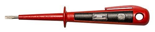 H+H Werkzeug 45400 Europrüfer/Spannungsprüfer/Phasenprüfer bis 250V GS geprüft nach VDE 0680 Made in Germany, rot/schwarz, 150 mm