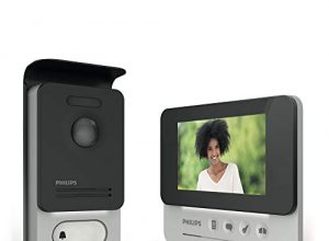 Philips 531004 Videotelefon 4,3 Zoll, 1 Stück, schwarz