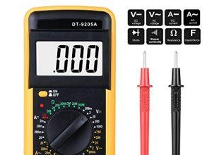 Digital Multimeter, Multimeter Messgeräte Digitales Voltmeter Amperemeter Ohmmeter, Akustischer Durchgangsprüfer Multimeter Voltmeter, AC/DC Multi Tester Spannung, Strom, Widerstand
