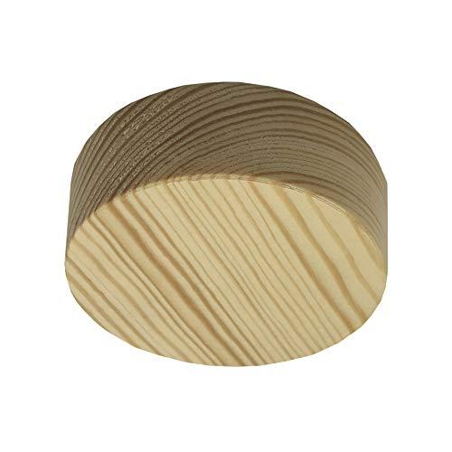 Verteilerdose Holz Kiefer mit Zubehör ø 85x28mm Verteilerbaldachin Aufputzdose Anschlussdose Echtholz