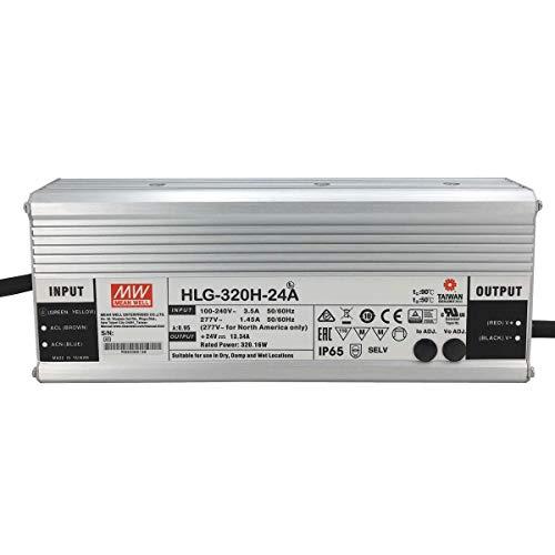 HLG-320H-24A: MEAN WELL LED-Netzteil 320W, 24V, IP65, Spannung & Strom einstellbar 24V 320W