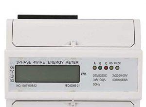 230 / 400V 5-100A Energieverbrauch Digitaler elektrischer kWh-Zähler 3-Phasen-KWh-Zähler mit LCD