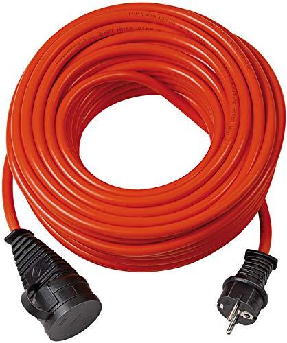 Brennenstuhl 1169920 BREMAXX Verlängerungskabel 5m Kabel, für Einsatz im Außenbereich IP44, einsetzbar bis-35 °C, Öl-und UV-beständig, Made in Germany orange, Rot