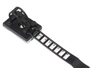 50 Stück – Schwarz – Set – ZADAWERK® – Kabelclips selbstklebend – Kabelklemme