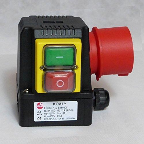 BUZE Orginal KEDU KOA1Y Schalter 400V, Thermoschalter Anschluss, Unterspannungsauslöser und Phasenwender