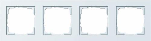 Gira 2015314 Rahmen 021422 4fach E2 reinweiss matt, Weiß