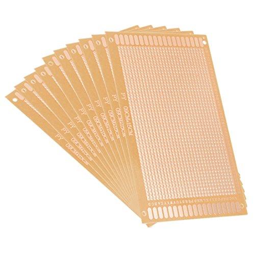 sourcing map 10stk. Einseitige Universal Papier Leiterplatten Platine Dicke 1,2mm 9x15cm DE de