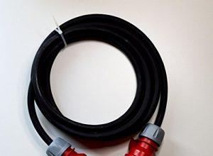 CEE Starkstromkabel 5×2,5 mm² 16A Verlängerungskabel 3/5/10/15/20/25 Gummikabel, Kabellänge:10m