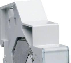 Hager TN002S – Patchmodul RJ45 CAT6 STP für Hutschienenmontage