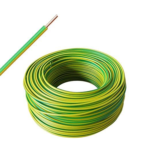ab 10m bis 50m wählbar – grün/gelb – H07V-U 1×4 mm² – Aderleitung starr eindrähtig