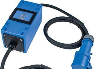 Schwabe MIXO Stromzähler/Zwischenzähler – as – Camping Zwischenstecker Box 230 V – CEE-Stecker und Kupplung – Made in Germany I 61748, Blau – geeicht und verblomt – IP44