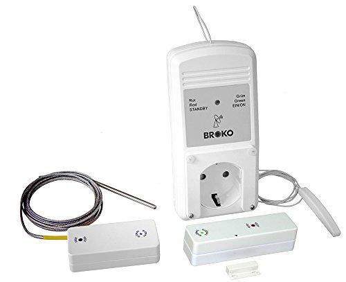 BROKO Funk-Sicherheits-Abluftsteuerung BL220FATSG-System mit Außenantenne und Temperaturfühler / Funkschalter / Antenne / Temperaturfühler / Dunstabzugshaubensteuerung