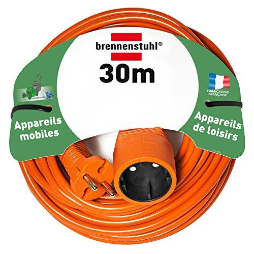 Brennenstuhl Verlängerungskabel H05VV-F 2x 1,5orange, Orange, 1162301