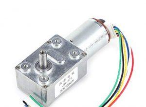 12v DC Motor, DC 12V drehmomentstarke Schneckengetriebe Motor Reduzierung mit Encoder Srong selbsthemmend30RPM