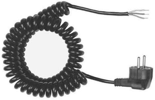 Bachmann 663.170 Wendelzuleitung YMHY-J 3G1,5mm², Schwarz