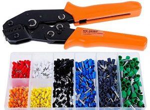 Faburo 800pc Crimpzangen Set ,Zwinge Crimper Zange Mit 800 Aderendhülsen Sortiment ,0.25-6mm² Crimpwerkzeuge für isolierte unisolierte Kabelschuhe