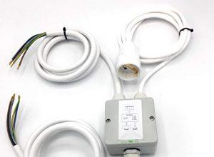 Splitter Box Verteiler Montagehilfe 2,0 Meter von MicroParts – Küchenanschlussbox 2m Küchenanschlussverteiler 3-fach für Kochfeld & Backofen an Herdanschlussdose