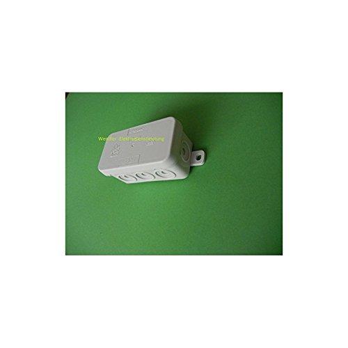 f-tronic 7340141 Feuchtraum-Abzweigkasten IP54, 75x37x40mm, grau, E126, Inhalt: 10, Stück