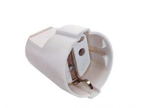 as – Schwabe 45011 Schutzkontakt-Kupplung, weiß, max. Querschnitt1,5mm² , 230 V