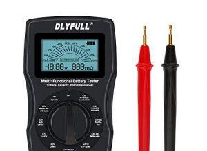 Batterietester Akkutester Batterieprüfergerät für Akku AAA, AA, NI-MH, 18650, Lithiumbatterie, C, D, 1,5V bis 9V, N- und KnopfzellenBatterie Nicht im Lieferumfang enthalten